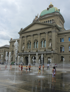 Fountain in front of the Parliament Building