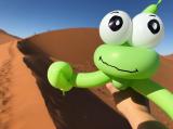 Balloon lizard at Dune 45